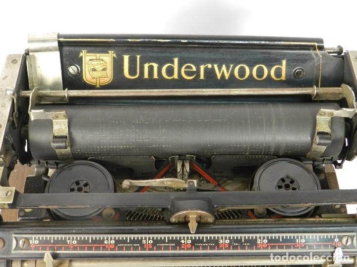 Antigüedades: MAQUINA DE ESCRIBIR UNDERWOOD Nº5 AÑO 1915 TYPEWRITER SCHREIBMASCHINE - Foto 7 - 182603403