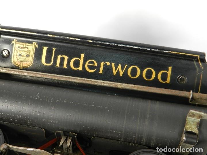 Antigüedades: MAQUINA DE ESCRIBIR UNDERWOOD Nº5 AÑO 1915 TYPEWRITER SCHREIBMASCHINE - Foto 8 - 182603403