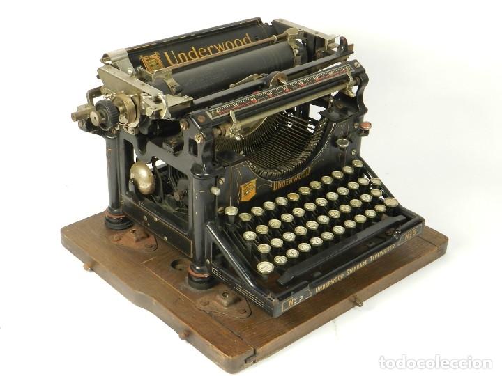 Antigüedades: MAQUINA DE ESCRIBIR UNDERWOOD Nº5 AÑO 1915 TYPEWRITER SCHREIBMASCHINE - Foto 9 - 182603403