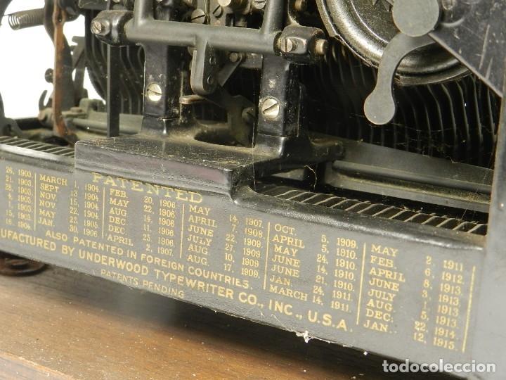 Antigüedades: MAQUINA DE ESCRIBIR UNDERWOOD Nº5 AÑO 1915 TYPEWRITER SCHREIBMASCHINE - Foto 13 - 182603403
