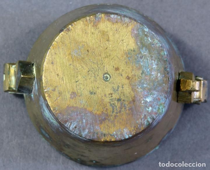 Antigüedades: Ponderal en bronce dorado de 500 gramos con ocho medidas anidadas finales del siglo XIX - Foto 8 - 182606600
