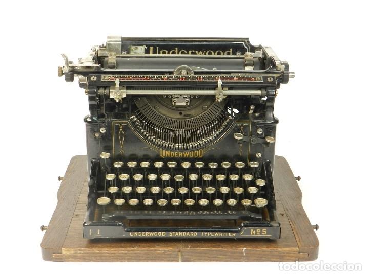 MAQUINA DE ESCRIBIR UNDERWOOD Nº5 AÑO 1918 TYPEWRITER SCRHEIBMASCHINE (Antigüedades - Técnicas - Máquinas de Escribir Antiguas - Otras)