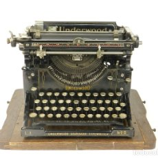 Antigüedades: MAQUINA DE ESCRIBIR UNDERWOOD Nº5 AÑO 1918 TYPEWRITER SCRHEIBMASCHINE. Lote 182610326