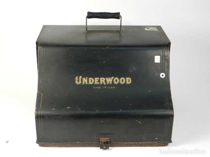 Antigüedades: MAQUINA DE ESCRIBIR UNDERWOOD Nº5 AÑO 1918 TYPEWRITER SCRHEIBMASCHINE - Foto 2 - 182610326