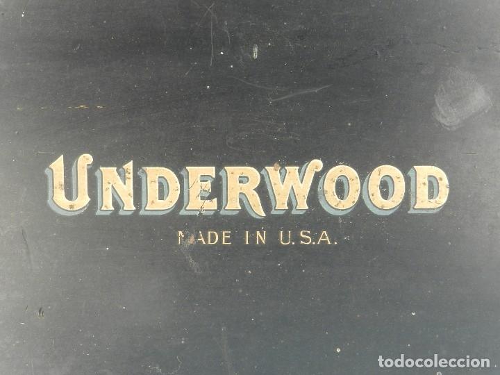 Antigüedades: MAQUINA DE ESCRIBIR UNDERWOOD Nº5 AÑO 1918 TYPEWRITER SCRHEIBMASCHINE - Foto 3 - 182610326