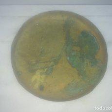 Antigüedades: ANTIGUO PLATO DE BRONCE O LATON PARA BASCULA O BALANZA . Lote 182627888