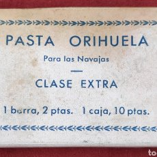 Antigüedades: 6 BARRAS DE PASTA ORIHUELA- PARA NAVAJAS CLASE EXTRA - ORIGINAL. Lote 182668327