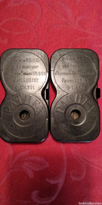 2 CHASIS PARA PELICULA DE PATHEX .- PATENTE JAPONESA (Antigüedades - Técnicas - Aparatos de Cine Antiguo - Proyectores Antiguos)
