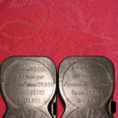 Antigüedades: 2 CHASIS PARA PELICULA DE PATHEX .- PATENTE JAPONESA. Lote 182675302