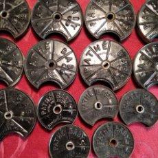 Antigüedades: 14 CHASIS VACIOS PARA PELICULA PATHÉ BABY. Lote 182676407