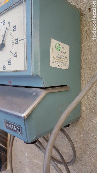 Antigüedades: Antigua máquina para fichar industrial funciona - Foto 2 - 182678447