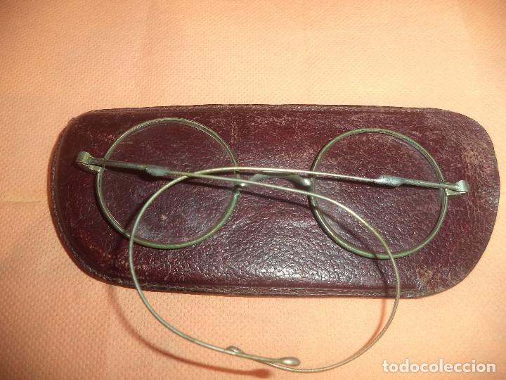 Antigüedades: Gafas antiguas de epoca siglo xix originales con su funda - Foto 2 - 182788685