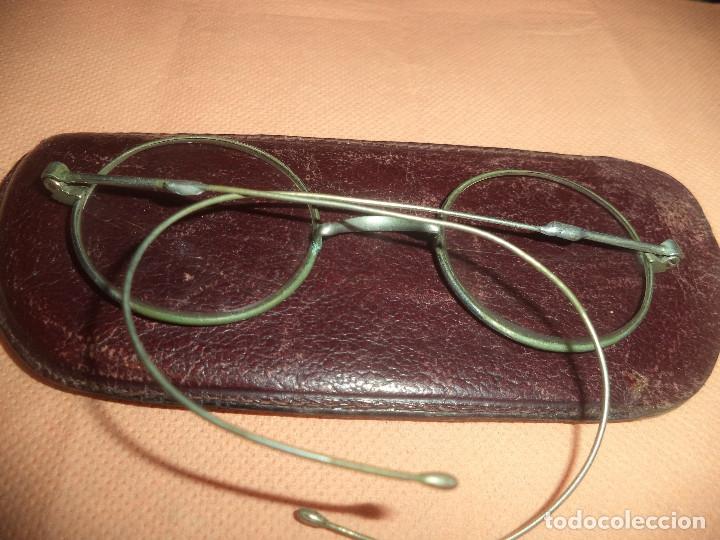 Antigüedades: Gafas antiguas de epoca siglo xix originales con su funda - Foto 3 - 182788685