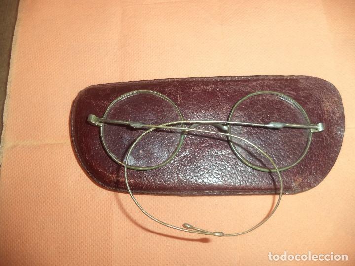 Antigüedades: Gafas antiguas de epoca siglo xix originales con su funda - Foto 4 - 182788685