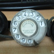 Teléfonos: TELEFONICA. ANTIGUO TELEFONO DE OPERARIO CON RULETA. DE BAQUELITA.. Lote 182813720