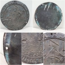 Antigüedades: PLACA DE BARCO DE BRONCE. Lote 182882666