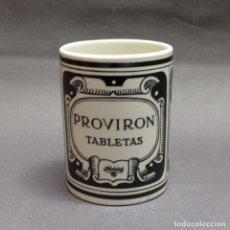 Antigüedades: VASO DE CERÁMICA DE PROVIRON TABLETAS. ANFORT MEXICO. 1930 - 1940. Lote 182907108