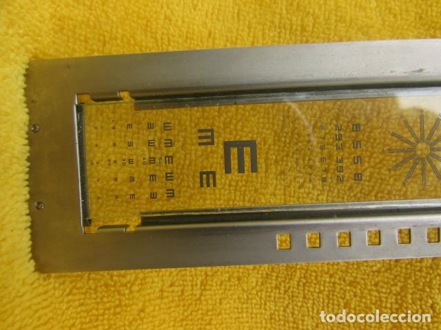 Antigüedades: RARA TABLA DE SNELLEN PARA REGISTRO DE LA AGUDEZA VISUAL - Foto 5 - 182917916