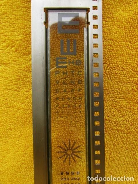 Antigüedades: RARA TABLA DE SNELLEN PARA REGISTRO DE LA AGUDEZA VISUAL - Foto 6 - 182917916