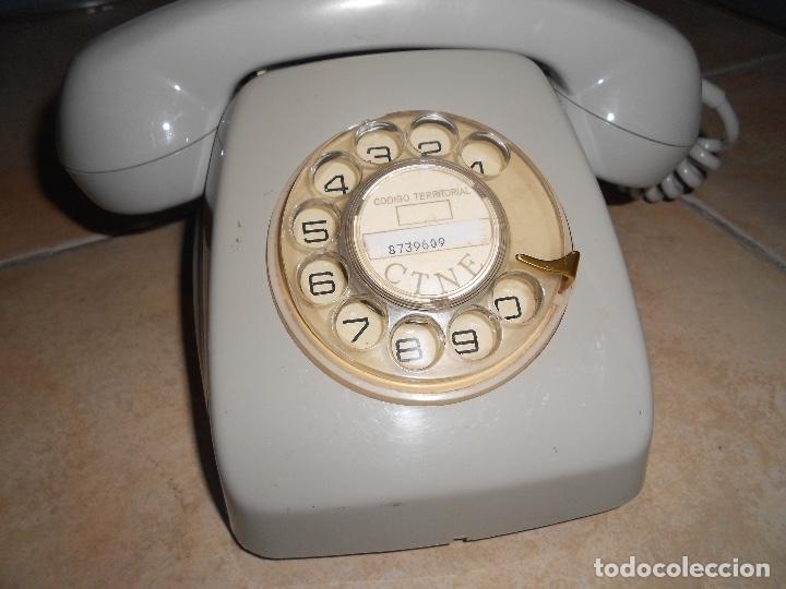 Teléfonos: Teléfono de rueda antiguo COLOR GRIS - vintage - modelo heraldo - CTNE BUEN ESTADO CON CLAVIJA - Foto 2 - 182945617