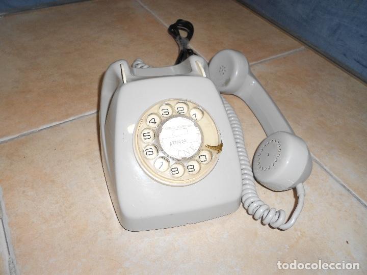 Teléfonos: Teléfono de rueda antiguo COLOR GRIS - vintage - modelo heraldo - CTNE BUEN ESTADO CON CLAVIJA - Foto 3 - 182945617