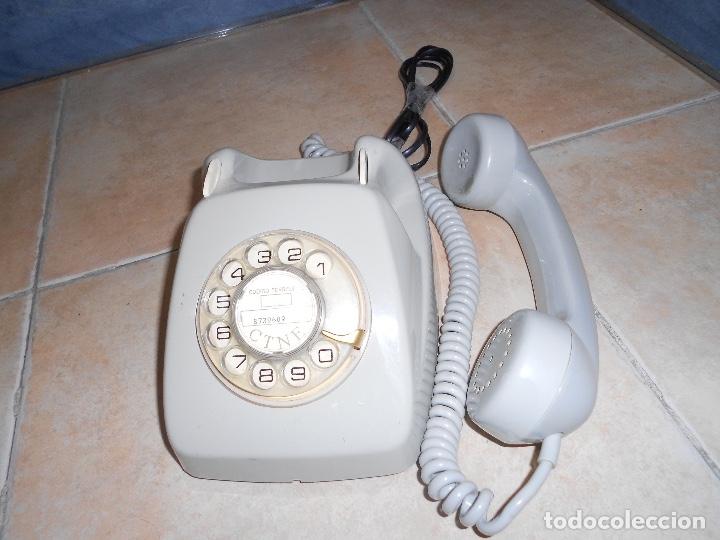 Teléfonos: Teléfono de rueda antiguo COLOR GRIS - vintage - modelo heraldo - CTNE BUEN ESTADO CON CLAVIJA - Foto 5 - 182945617