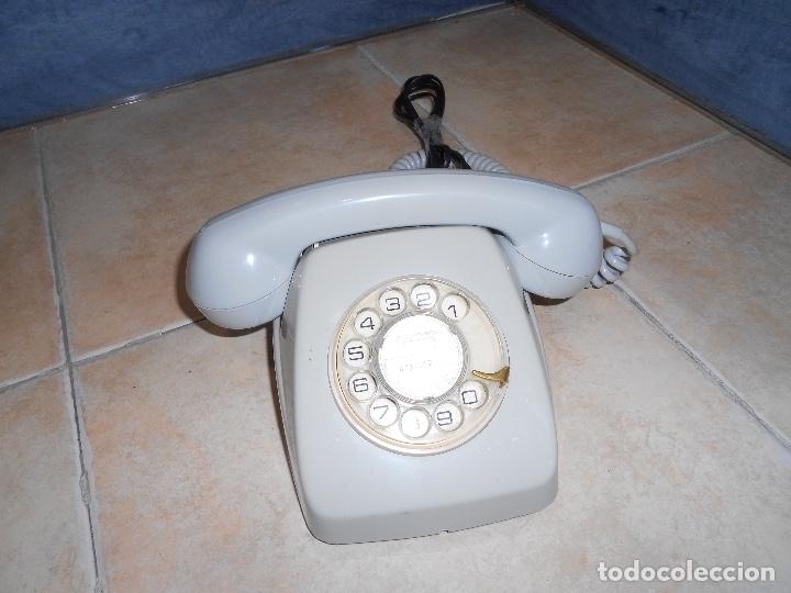 Teléfonos: Teléfono de rueda antiguo COLOR GRIS - vintage - modelo heraldo - CTNE BUEN ESTADO CON CLAVIJA - Foto 6 - 182945617