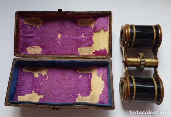 Antigüedades: ANTIGUOS PRISMATICOS BINOCULARES BREVET CON ESTUCHE - Foto 8 - 182955642