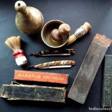 Antigüedades: ANTIGUO LOTE DE ÚTILES DE BARBERÍA... Lote 183020988