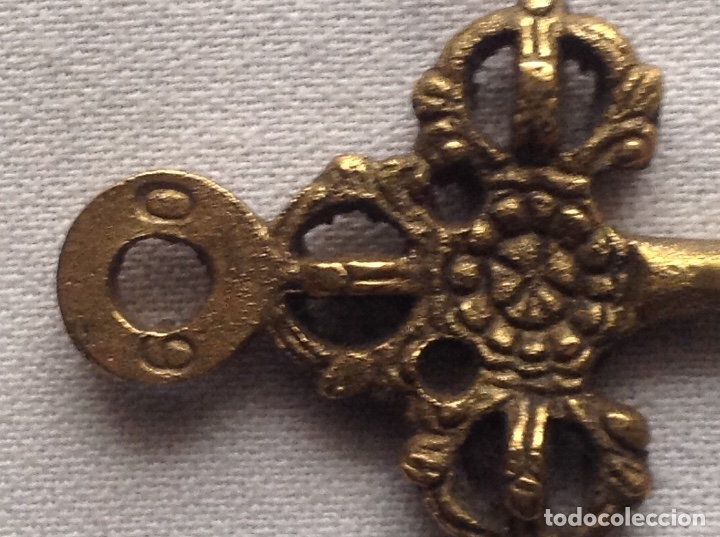 Antigüedades: DECORATIVA LLAVE CON NÚMEROS 6 0 - Foto 7 - 183027821