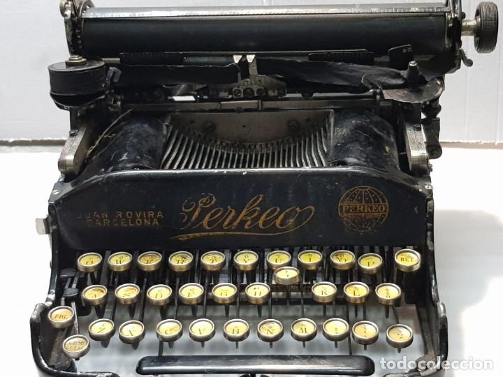 Antigüedades: Máquina escribir PERKEO Portatil made in Spain extremadamente dificil - Foto 8 - 183034812