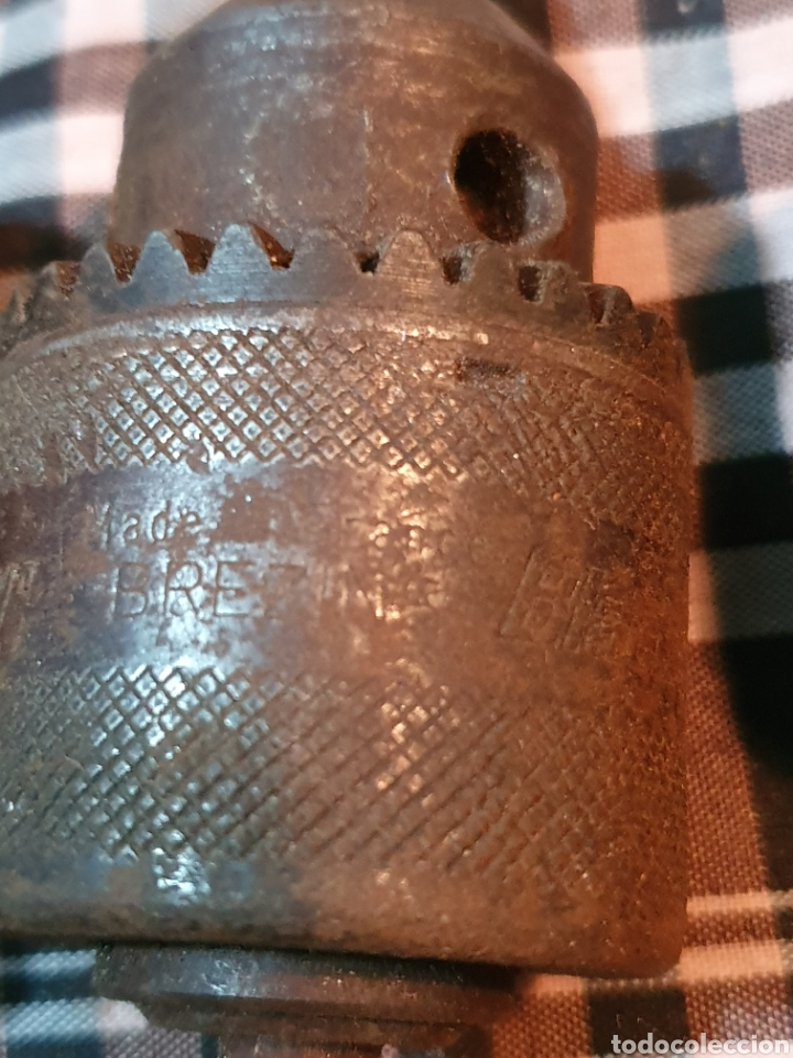 Antigüedades: Conjunto de 3 portabrocas, bocas de taladro, lo fotografiado. - Foto 4 - 183039417