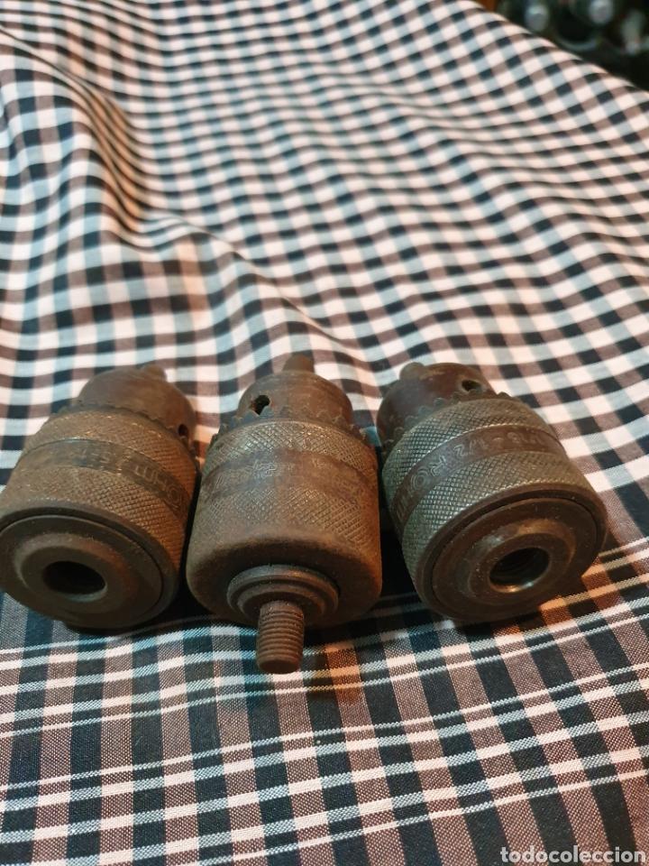 Antigüedades: Conjunto de 3 portabrocas, bocas de taladro, lo fotografiado. - Foto 7 - 183039417