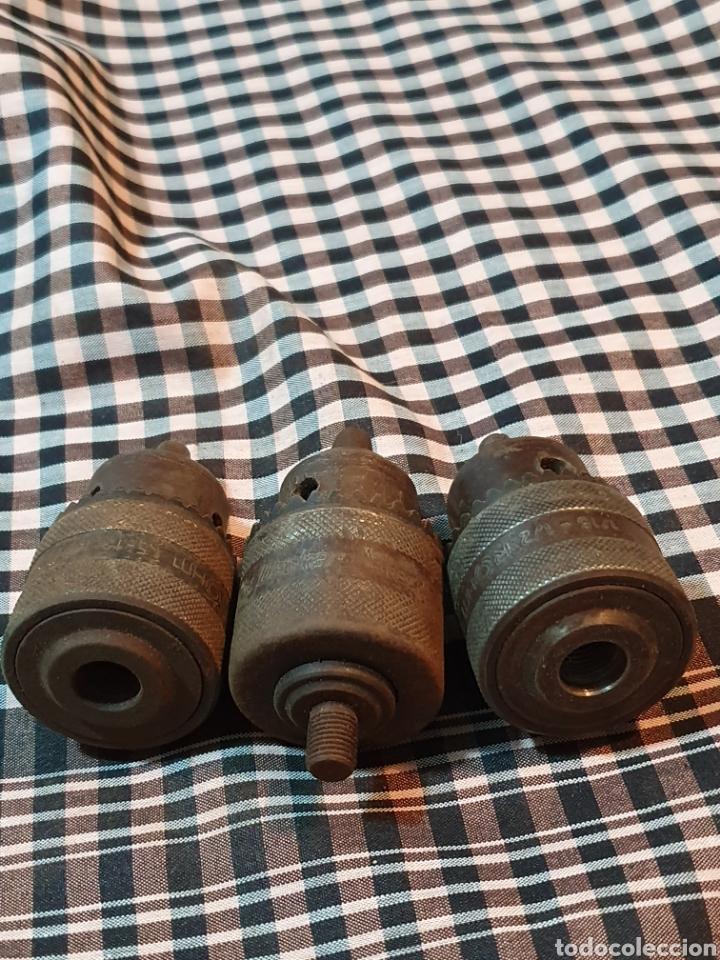Antigüedades: Conjunto de 3 portabrocas, bocas de taladro, lo fotografiado. - Foto 8 - 183039417