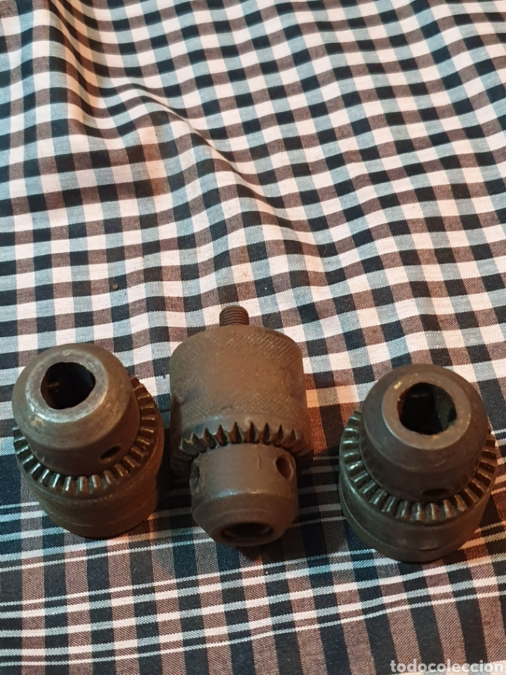 Antigüedades: Conjunto de 3 portabrocas, bocas de taladro, lo fotografiado. - Foto 9 - 183039417