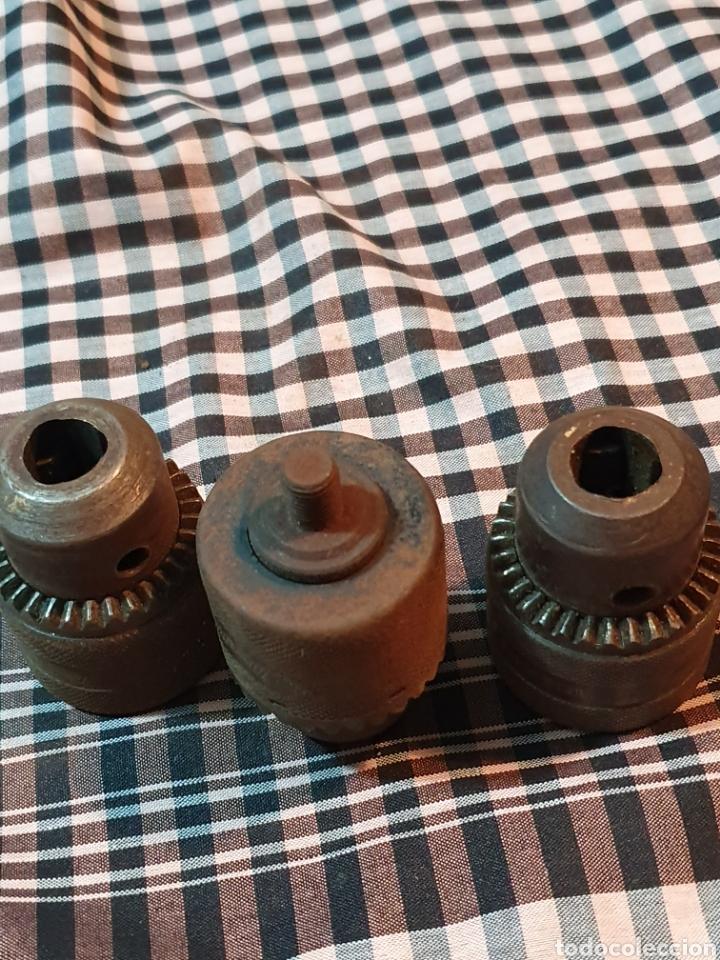 Antigüedades: Conjunto de 3 portabrocas, bocas de taladro, lo fotografiado. - Foto 10 - 183039417