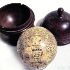 Antigüedades: 1790-1800 GLOBO DE BOLSILLO DE KLINGER (NUREMBERG) 6CM. PERFECTO ESTADO POCKET GLOBE LINGER. Lote 183170181