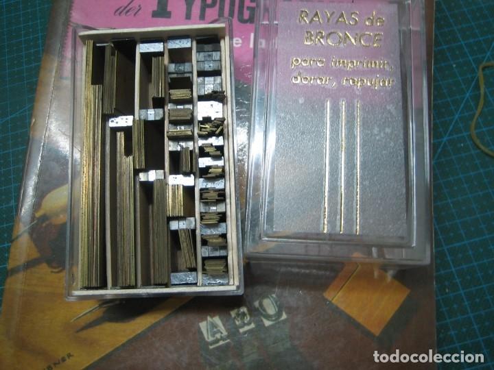 Antigüedades: imprenta ENCUADERNACIÓN, rayas bronce para estampar e imprimir, mod. descan. 1 punto - lote 1-15 - Foto 2 - 183251736
