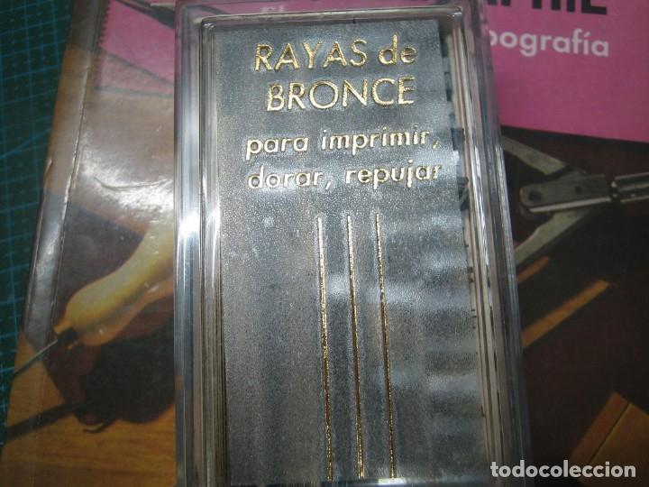 Antigüedades: imprenta ENCUADERNACIÓN, rayas bronce para estampar e imprimir, mod. descan. 1 punto - lote 1-15 - Foto 4 - 183251736