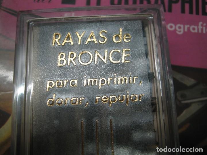Antigüedades: imprenta ENCUADERNACIÓN, rayas bronce para estampar e imprimir, mod. descan. 1 punto - lote 1-15 - Foto 5 - 183251736