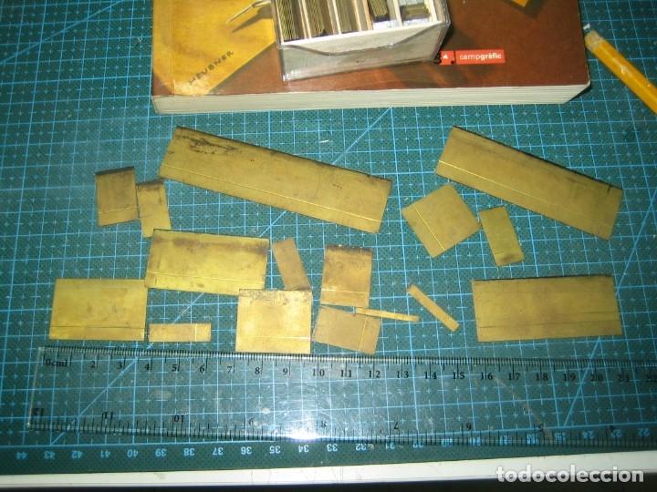 Antigüedades: imprenta ENCUADERNACIÓN, rayas bronce para estampar e imprimir, mod. descan. 1 punto - lote 1-15 - Foto 9 - 183251736