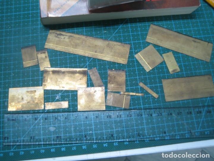 Antigüedades: imprenta ENCUADERNACIÓN, rayas bronce para estampar e imprimir, mod. descan. 1 punto - lote 1-15 - Foto 10 - 183251736