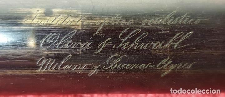 Antigüedades: CATALEJO NAUTICO. CUERPO DE LATÓN. OLIVA Y SCHNABL. BUENOS AIRES. SIGLO XIX. - Foto 6 - 183256773