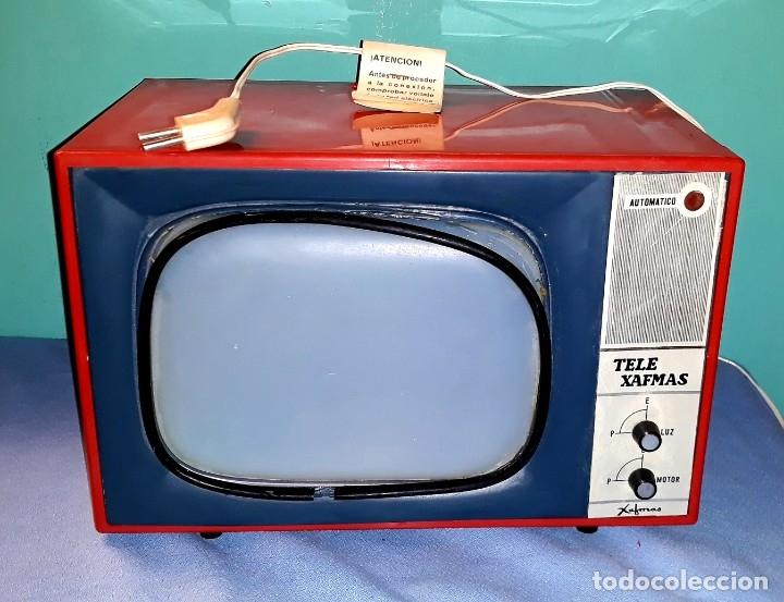 Antigüedades: TELE PROYECTOR DE SUPER 8 XAFMAS TELEVISION DE 6 PULGADAS AÑOS 60 ORIGINAL MADE IN SPAIN FUNCIONA - Foto 2 - 183256817