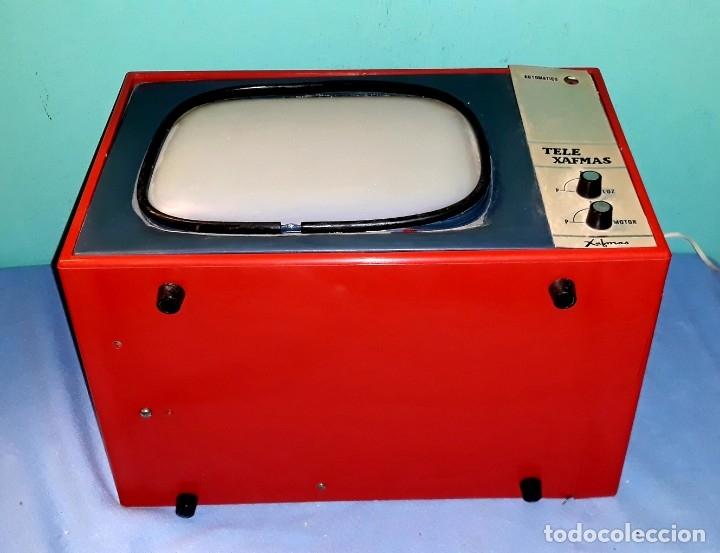 Antigüedades: TELE PROYECTOR DE SUPER 8 XAFMAS TELEVISION DE 6 PULGADAS AÑOS 60 ORIGINAL MADE IN SPAIN FUNCIONA - Foto 4 - 183256817