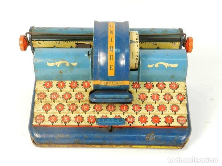 MAQUINA DE ESCRIBIR UNIQUE AÑO 1946 TYPEWRITER SCRHEIBMASCHINE (Antigüedades - Técnicas - Máquinas de Escribir Antiguas - Otras)