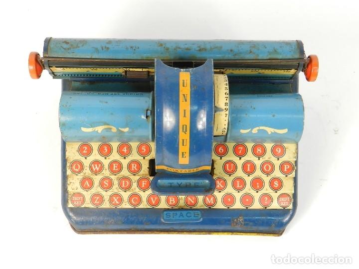 Antigüedades: MAQUINA DE ESCRIBIR UNIQUE AÑO 1946 TYPEWRITER SCRHEIBMASCHINE - Foto 2 - 183268553