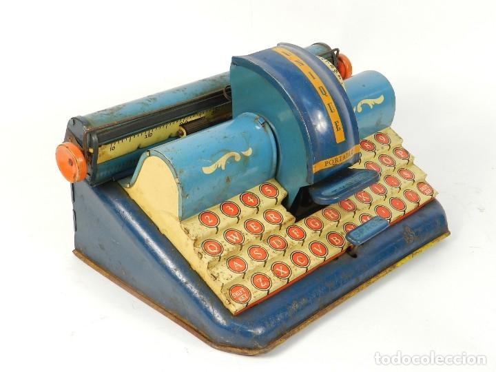 Antigüedades: MAQUINA DE ESCRIBIR UNIQUE AÑO 1946 TYPEWRITER SCRHEIBMASCHINE - Foto 3 - 183268553