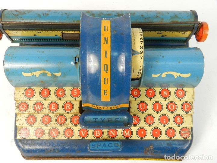 Antigüedades: MAQUINA DE ESCRIBIR UNIQUE AÑO 1946 TYPEWRITER SCRHEIBMASCHINE - Foto 9 - 183268553