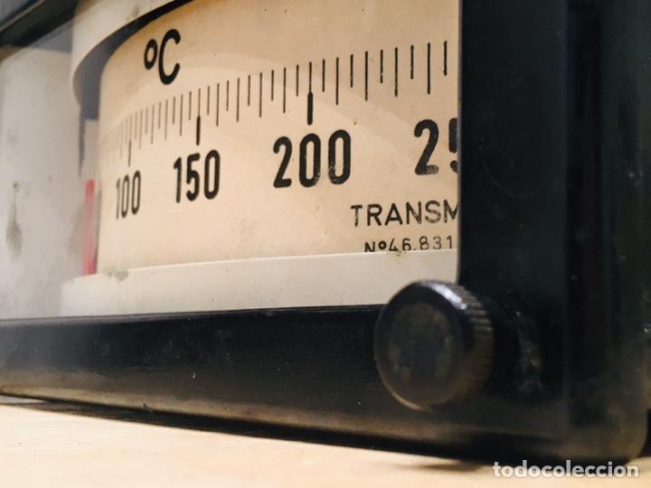Antigüedades: APARATO MEDIDOR DE TEMPERATURA TRANSMETAL INSTRUMENTO ELÉCTRICO TERMÓMETRO - Foto 5 - 183293642